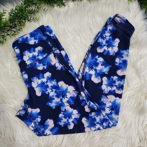 OLD NAVY fitted go-dry floral workout leggings S